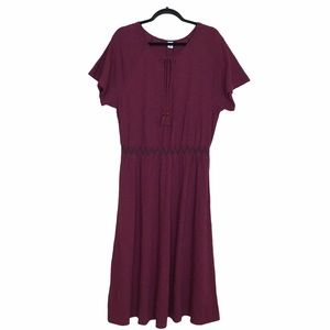 Old Navy Smocked Cotton Midi Dress